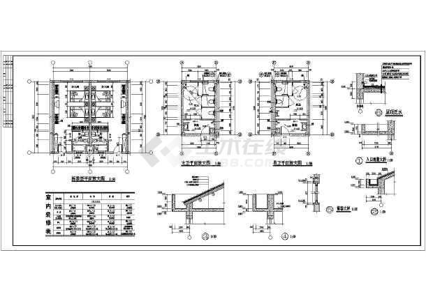 某地两层框架结构老年公寓建筑设计方案图