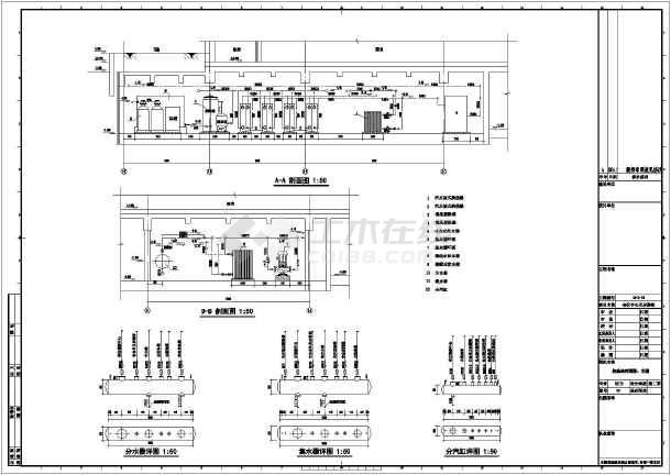 换热站设计机器及图纸图纸设计化机黄图纸燃气厨房图片