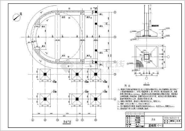 某结构钢筋混凝土图纸坐标电厂数控_cad圆形化图纸的铣床三筒仓v结构cad下载图图片