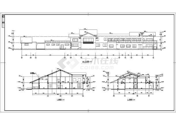 建筑图纸 交通建筑 车站,车库建筑施工图 某地二层框架结构收费站综合