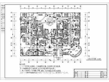 某娱乐场所室内装修电气(含弱电)设计图纸