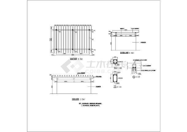 图纸 园林设计图  小品及配套设施(小区cad平面图下载)  棚架花架设计