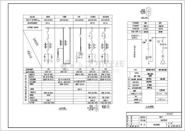 某建材厂高低压变电所全套原理图,高压计量二次结线图,pt柜二次原理
