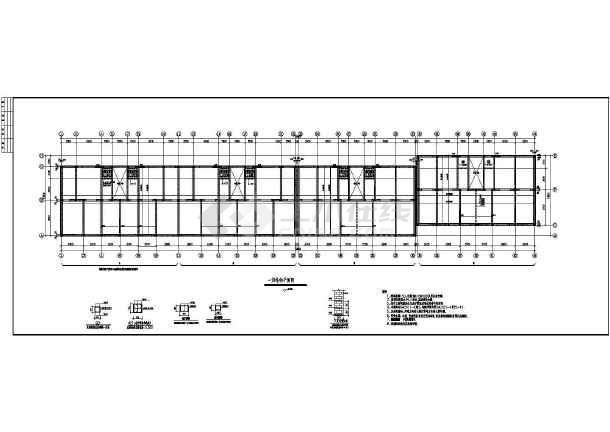 六层砖混结构房屋的施工图,图纸包括;基础平面图,结构平面图,楼梯详图