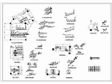 中国园林博览会主展馆卫生间平面图系统图