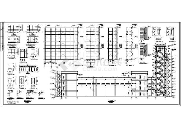 某框架结构四层教学楼建筑设计方案图