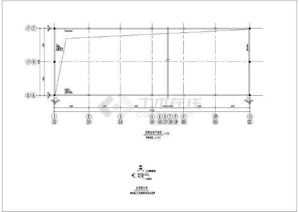 钢结构单层13米跨砼柱钢屋架排架结构施工图