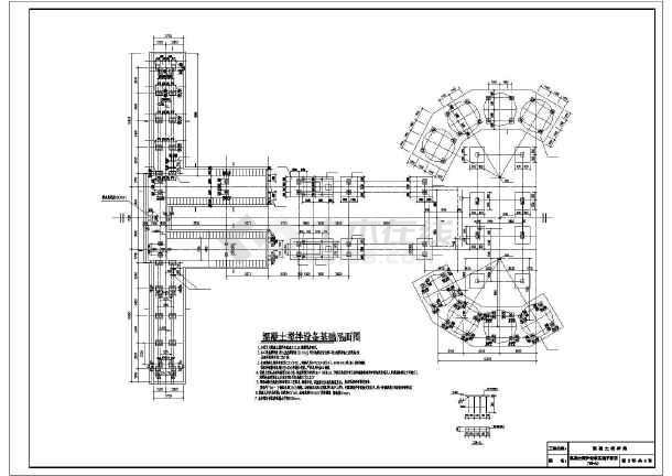 图纸 建筑结构图 地基基础图纸 其他基础施工图 某地混凝土搅拌设备