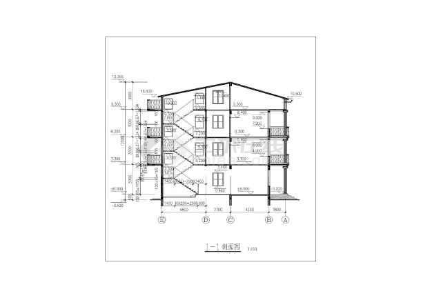 新农村建设三层房屋建筑方案设计图纸