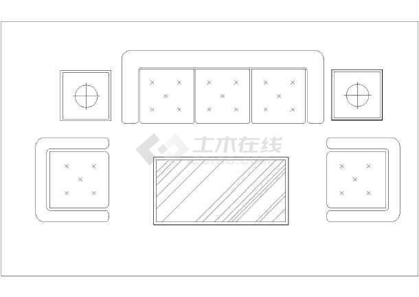 装修方案节点详图  室内设计cad素材  建筑室内装修设计沙发组合及床