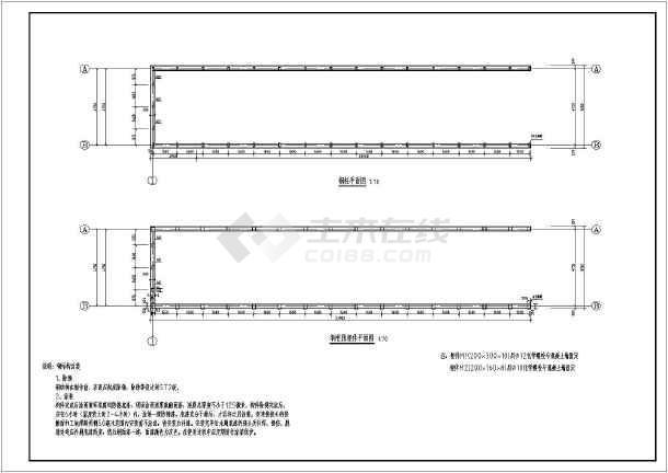 入口坡道车库轻钢屋架点驳接式采光罩建筑图_施工图钢玻璃cad图片