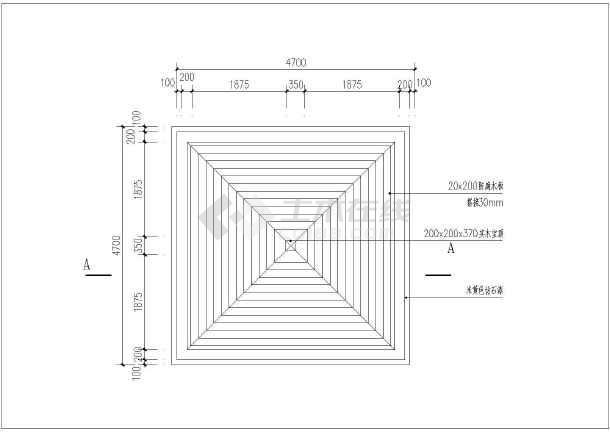 小区瀑布跌水及防腐木景观亭设计施工图