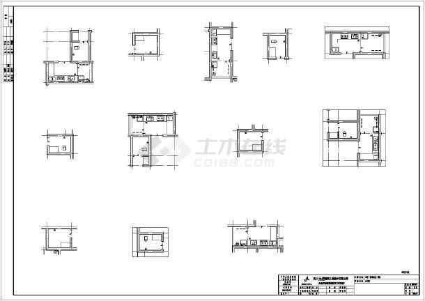 【四川】11+1层住宅结构框架建筑施工图_cad2013版CAD工具栏的图片
