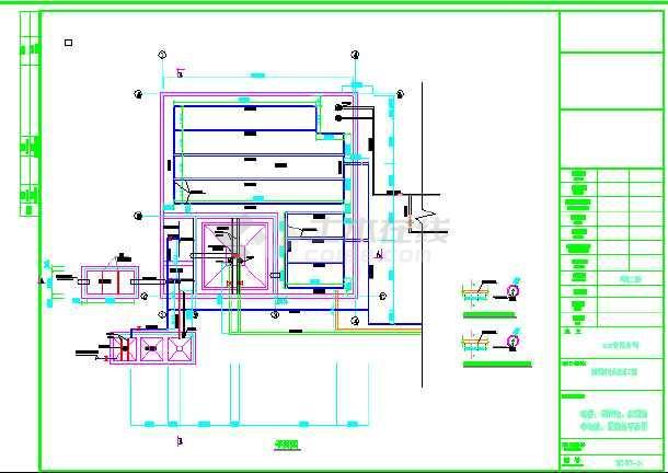图纸包括:施工总说明,工艺流程图,污水站总平面图,格栅,调节池,初沉池