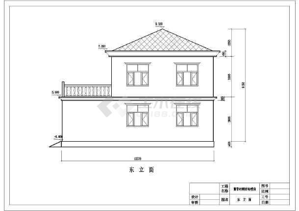 图纸带露台简单二层房屋建筑设计图(含结构)30tbw30农村图片