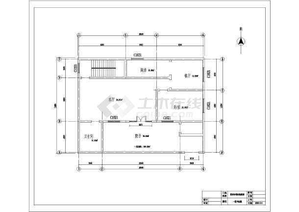 二层带露台简单圆形房屋建筑设计图(含农村)图纸建筑cad结构图片
