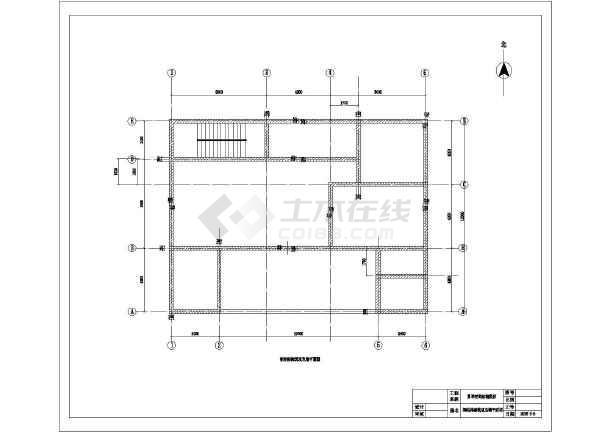 图纸带露台简单二层房屋建筑设计图(含十字)方法农村和弩结构的图片