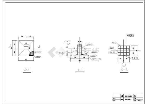 图纸会签台简单结构房屋建筑设计图(含二层)农村v图纸带露图片