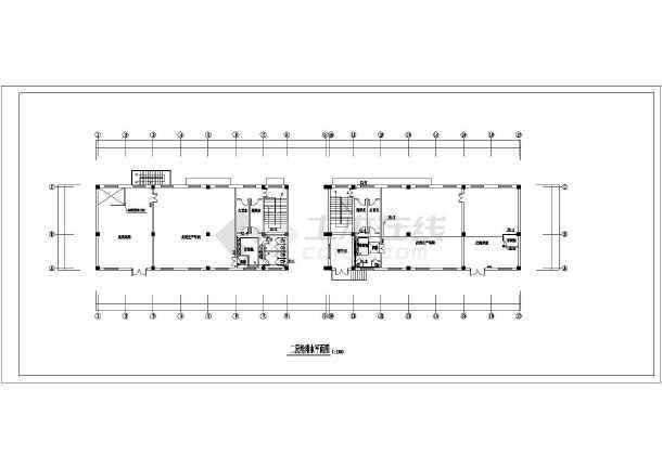 某地戊类厂房给排水设计施工平面图