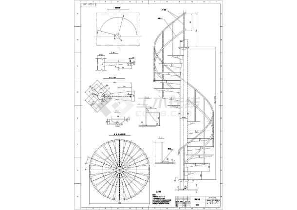 钢旋梯,钢结构旋转楼梯建筑图纸