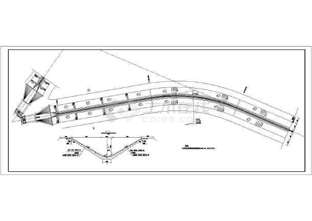 图纸 水利工程设计图 闸门启闭机 水闸相关 某水利工程节制闸结构布置