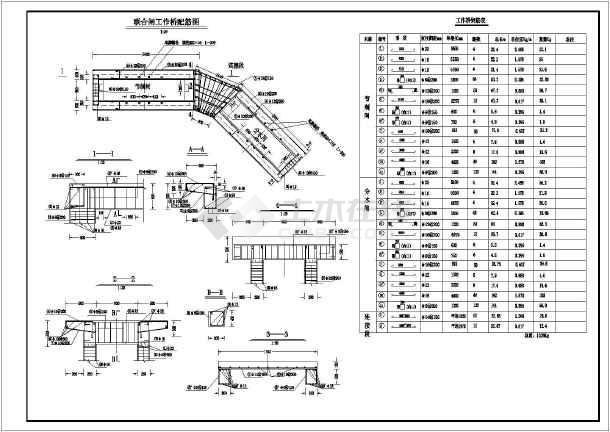 某水利工程节制闸结构布置及钢筋图_cad图纸下载-土木
