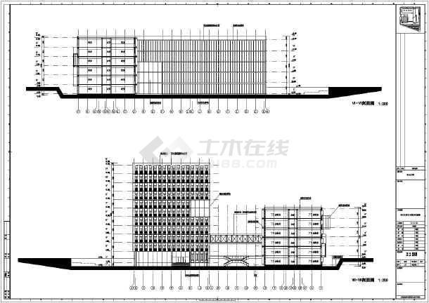 四川大学框架结构行政楼建筑方案设计图