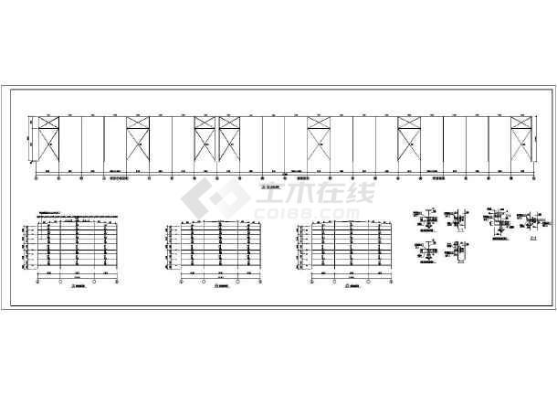 二层平面图,b-b剖面图,立面图,a-a剖面图,屋面平面图,建筑详图,结构