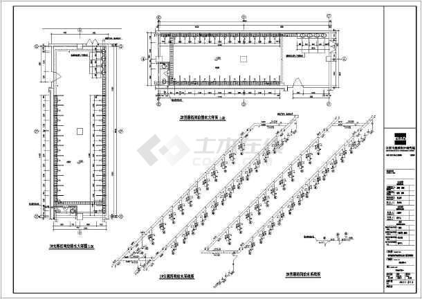 山东省青岛市某游泳馆给排水施工图