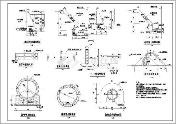 水利工程技施图纸钢筋全套结构涵管图_cad图包版型托特阶段图片