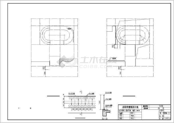 某三层框架结构双弧形对称豪华别墅建筑施工图