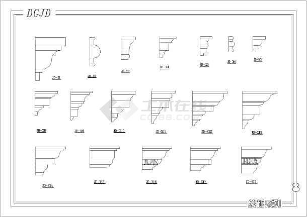 比较图例的各种零件图纸罗马柱常用_cad数控铣门窗类型图纸图片