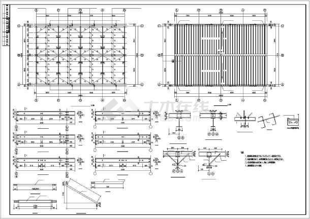九江某酸站十六效设备二层钢结构厂房图纸