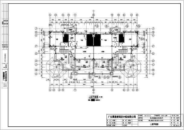 鹤山市2层框架结构双拼别墅建筑施工图纸