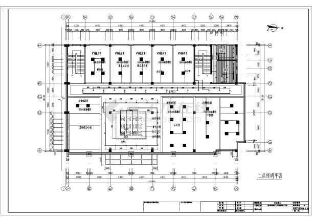 某国际汽车城装修工程设计施工图纸高清图片