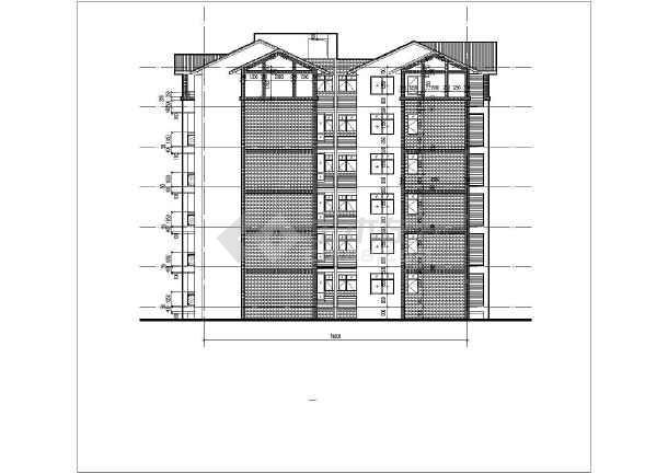 都江堰某小区坡屋顶单体建筑设计施工图