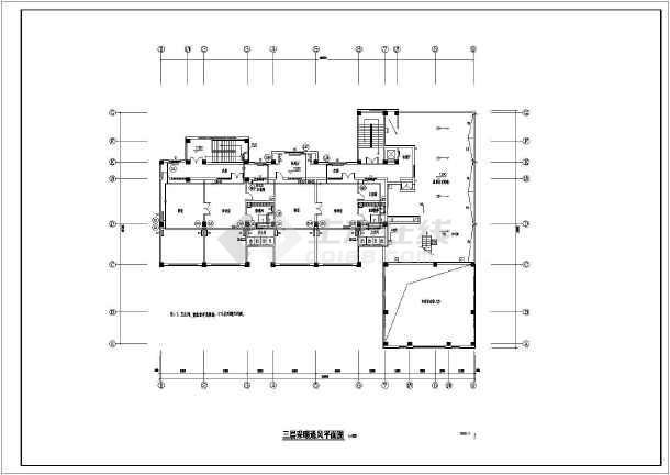 某2000平米的小区幼儿园采暖空调设计施工图