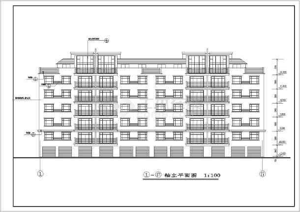 某地6层框架结构住宅建筑设计施工图图纸