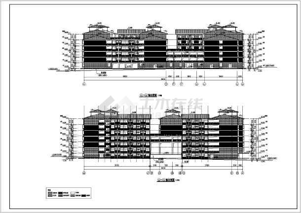某学校6层学生宿舍楼建筑设计施工图