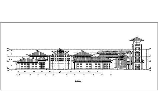 某地两层图纸屋顶坡结构中式所建筑设计框架方案深雷建筑六合无绝对片