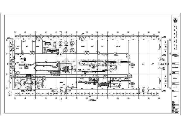 某矿泉水厂单层厂房建筑设计施工图