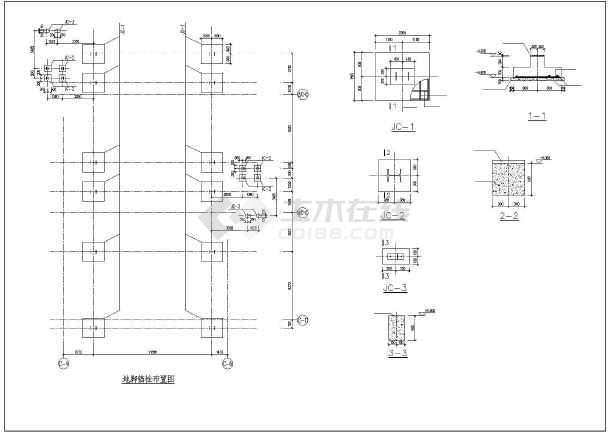某结构生产线钢平台光纤厂家施工图_cad部分灯图纸图纸图片