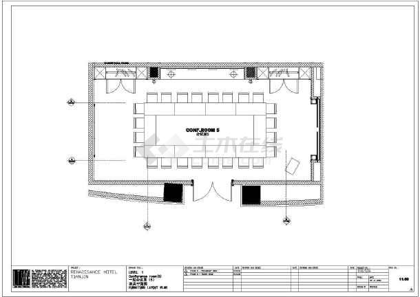 【天津】现代风格五星级酒店会议室设计图图片
