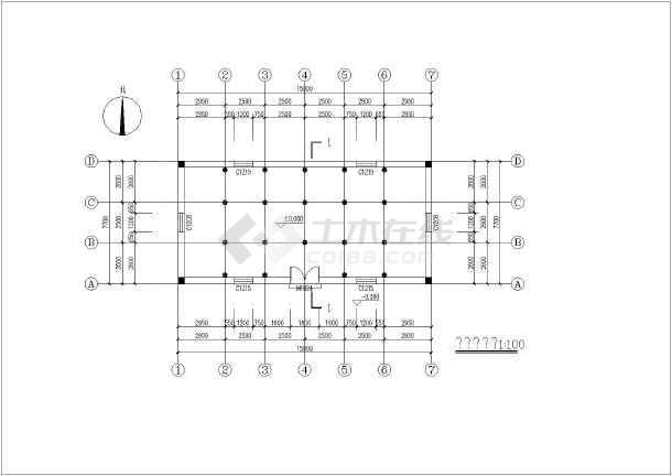 某地木结构建筑结构图