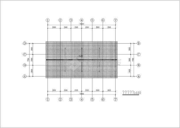 某地木结构建筑结构图-图2