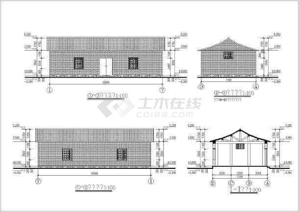 某地木结构建筑结构图-图3