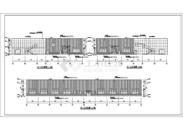 云南大理长安跨越汽车4s店建筑设计图