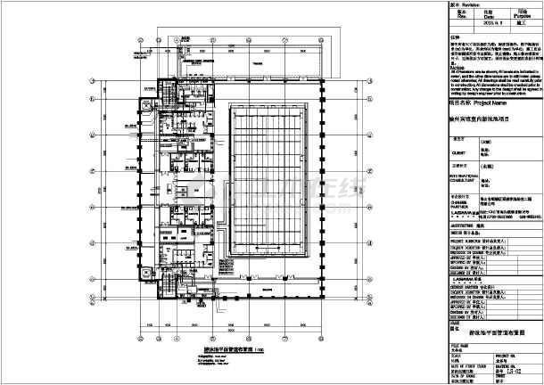 某宾馆室内游泳馆建筑设计施工图图片