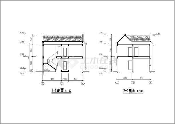 【天津】某地农村独栋别墅设计施工图