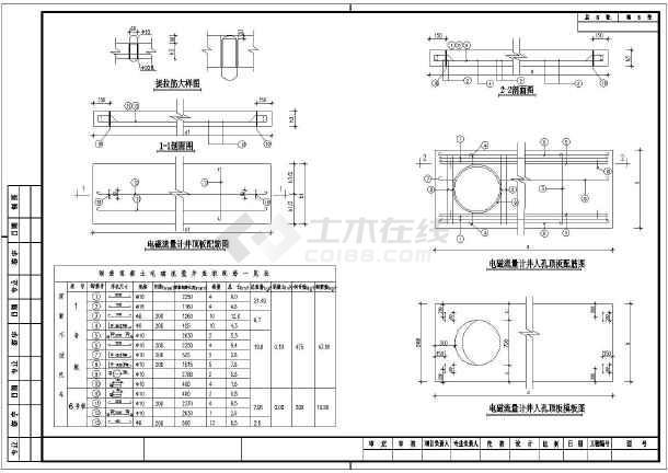 某地大样流量计管理井配筋及电磁设计图_cad检查深化图纸设计图片